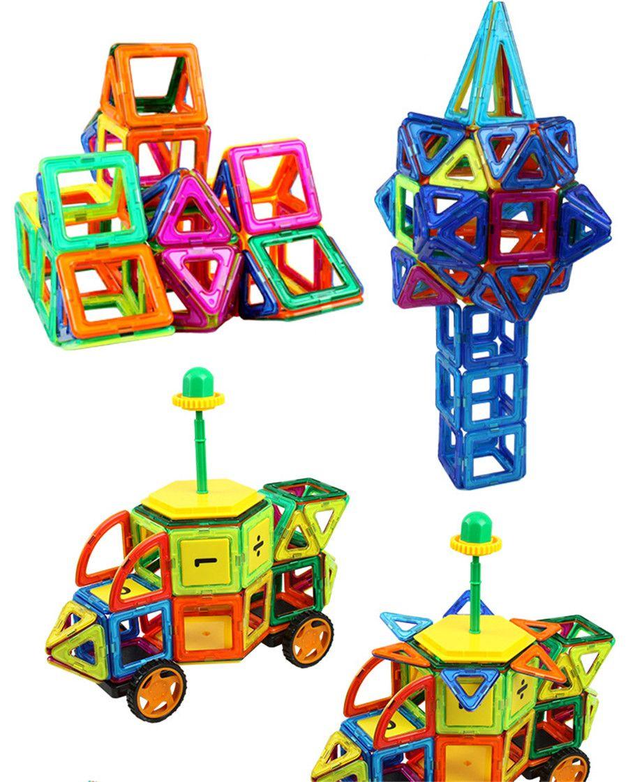 Magnetic Building Blocks Toys 3D Magnetic Building Blocks Educational Construction Building Bricks DIY Blocks Model Toy Gift