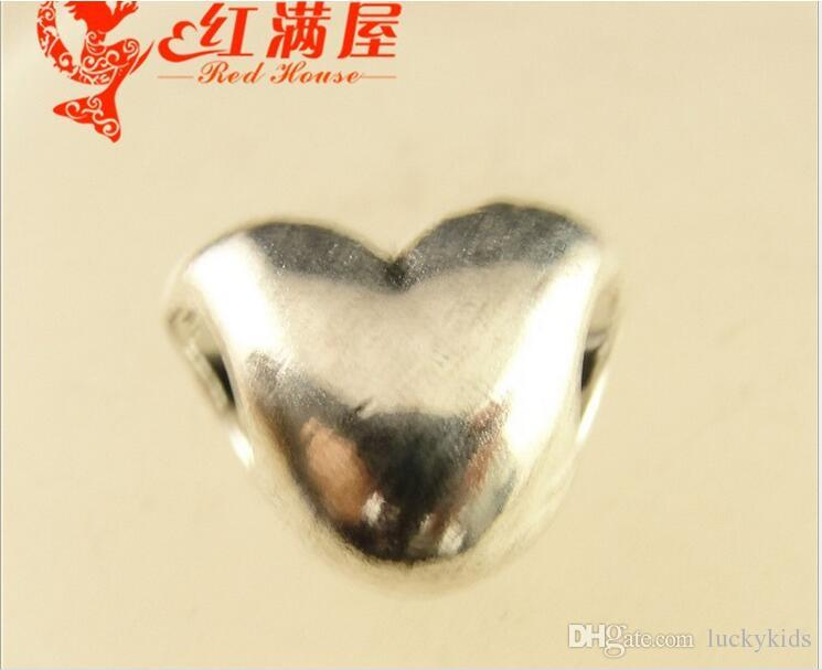 11*10*7MM Antique Bronze Retro love perforated heart beads hand, DIY accessories tibetan silver heart charms, alloy heart-shaped pendants