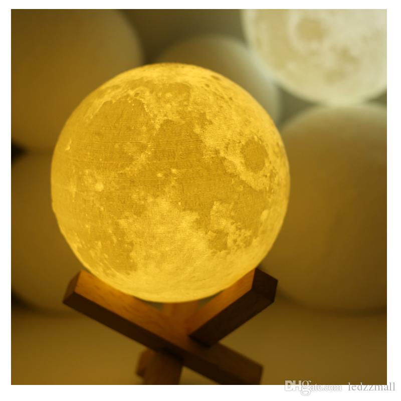 2018 3d Light 3d Printed Moon Lunar Mood Lamp For