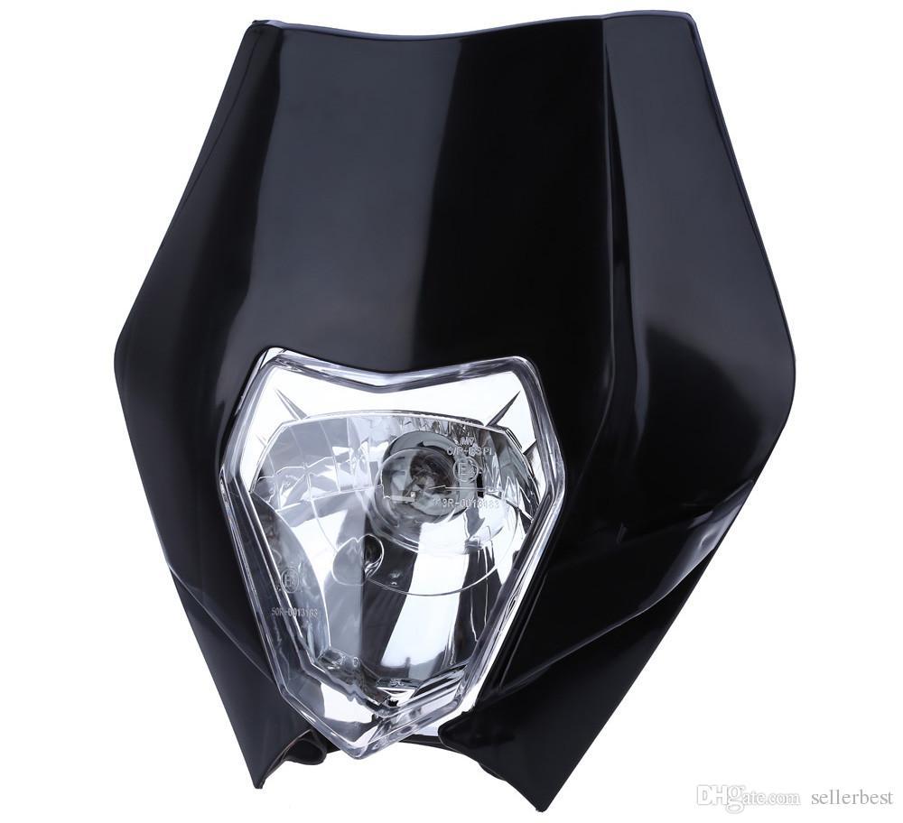 Indicador del faro halógeno de la motocicleta Pantalla de carenado para el motor de la bici de la suciedad Gran faro principal Disfrute compitiendo a través de la oscuridad