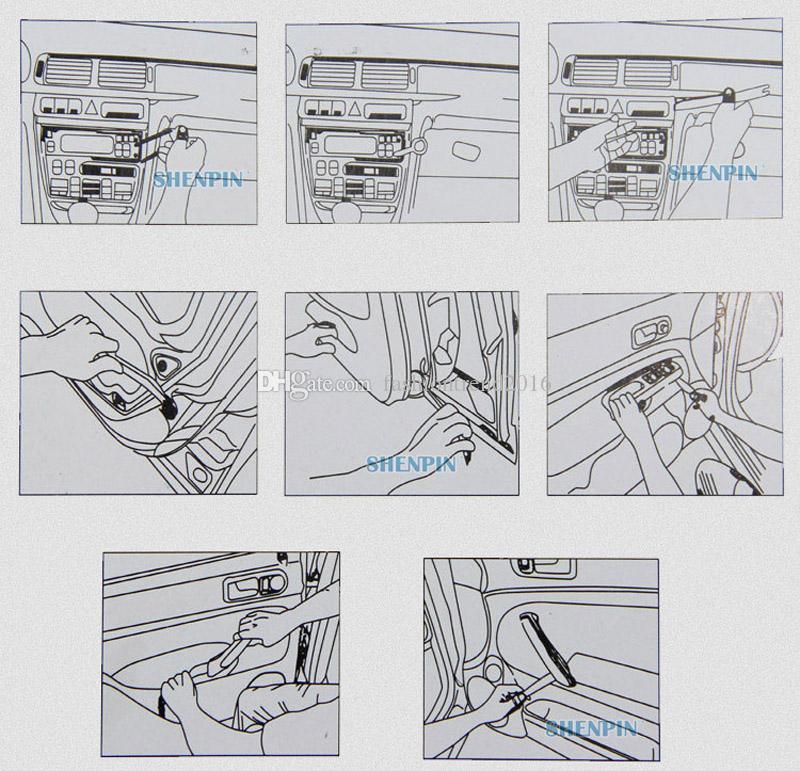 4 pçs / set Auto Painel de Painel de Rádio Do Carro Clipe Guarnição Remoção de Áudio Installer Pry Ferramenta de Reparo do Painel