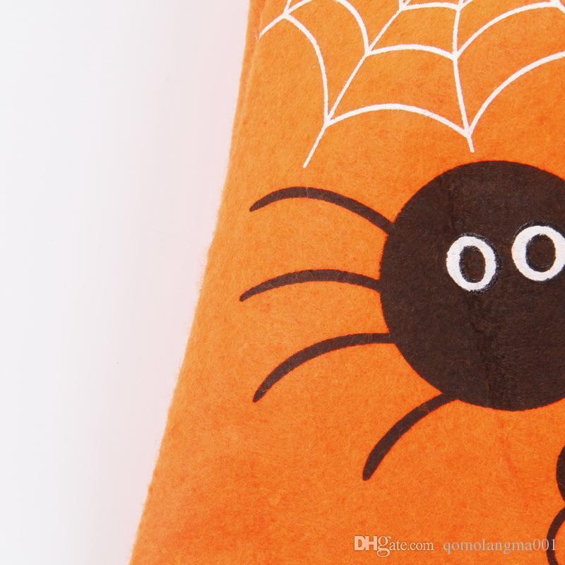 Halloween Pumpkin Candy Bag Trick Treat Non-woven Basket Tote Bag Cute Smile Face Handbag Halloween Decorations