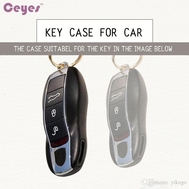 Car Key Fob Holder Cover Car Styling Case For Porsche Cayenne 911 996 Panamera Macan TPU Car Shell Accessories Car-Styling