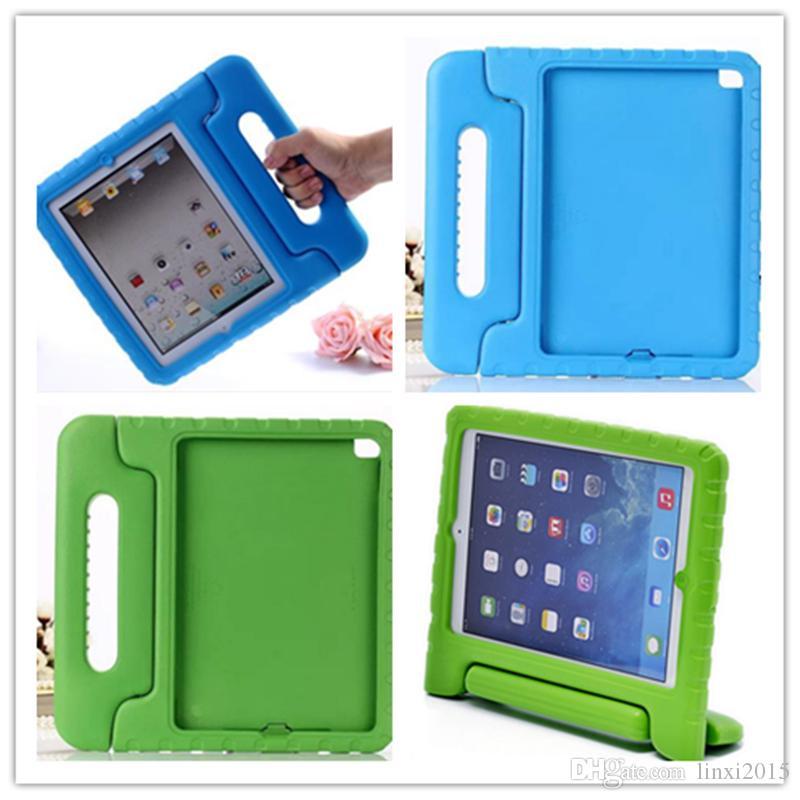 Estuche portátil para niños a prueba de choques de espuma segura a prueba de choques EVA Soporte de cubierta para iPad mini 1234 2/3/4 Air 5 6 Pro envío gratis