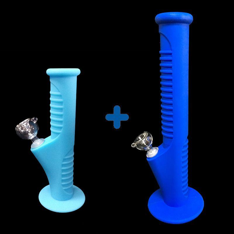 06Free shipping fuls nuevo conjunto de Silicona Mini Tubos de Agua y Tubos de Agua de Silicona pipas de vidrio pipas de agua de vidrio