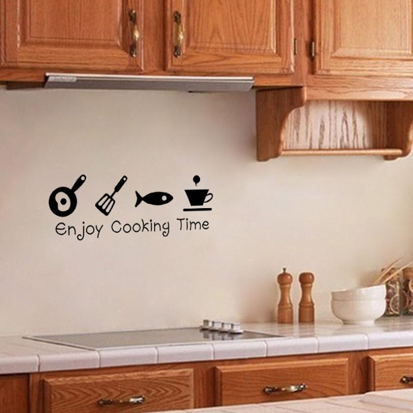 Quality First Removable Kitchen Enjoy Cooking Time Wall Sticker Vinyl Decal  Home Decor For Living Room Or Bedroom Cool Wall Decals Cool Wall Stickers  From ...