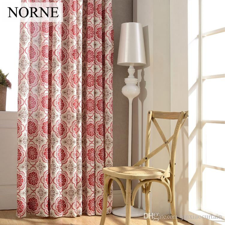 Norne Modern Printed curtains for living room bedroom kitchen curtains  Privacy Assured floral Window Treatment Blackout Curtain Panel Drapes