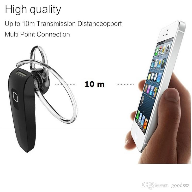 Hot B1 Wireless Bluetooth Mini Headset V4.0 HD Stereo Sports Ear-hook Earphone Handsfree with MIC Universal Headphone for Smart Cell Phones