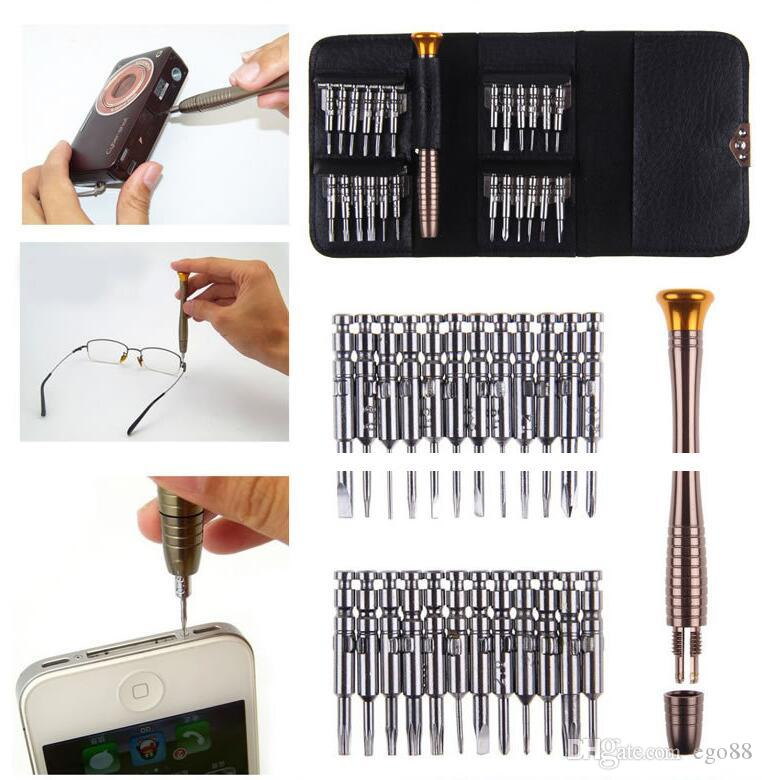 Screwdriver set 25 in 1 Torx Kit herramientas ferramentas Screwdriver Wallet Set Repair Tools For iphone 4s 5s hand tools