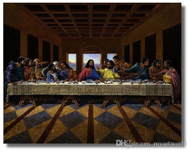 2018 Framed Jesus Christ Black Last Supper Religious u0026 Inspirational Wall ArtPure Handpainted Portrait Art Oil Painting Canvas. & 2018 Framed Jesus Christ Black Last Supper Religious u0026 Inspirational ...