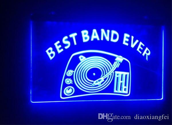 Best Band Ever DJ Turntable Mixer beer bar 3d signs culb pub led neon light  sign home decor crafts