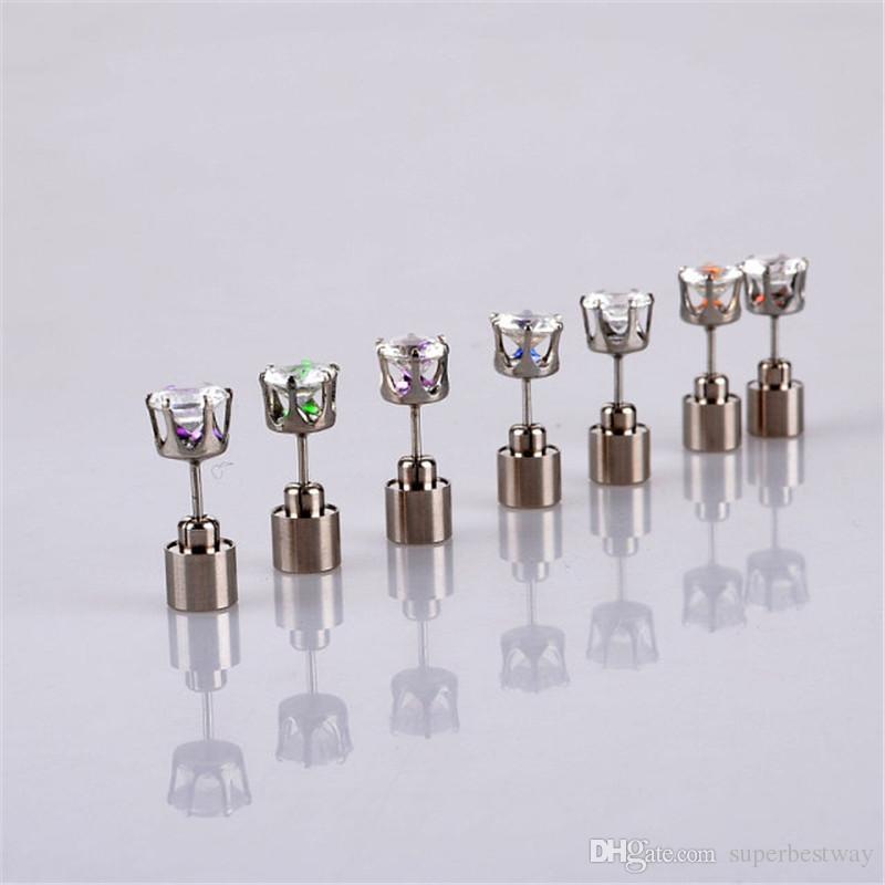 LED Stud Flash Ohrringe Haarnadeln Strobe LED Ohrring Lichter Strobe Luminous Ohrring Party Fashion Studs Lichter für Weihnachtsgeschenk OTH175