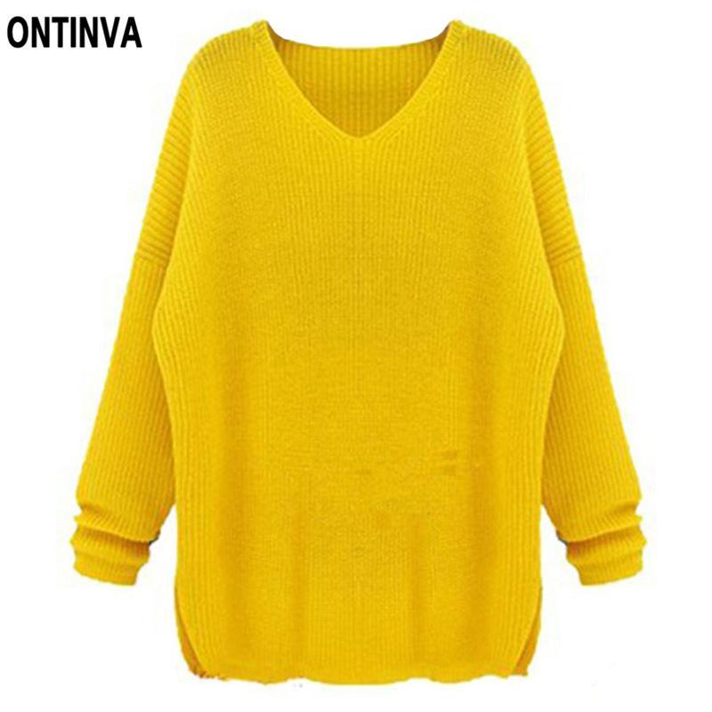 Großhandel Übergroße Gelbe Häkeln Pullover Frauen Marineblau ...