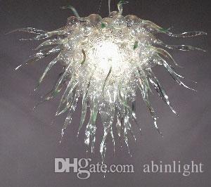 "Hand Blown Glass Chandelier Light Modern Art Glass Lighting 32""x32"" Custom Artist Lighting Blown Glass Flush Mount Ceiling Light"