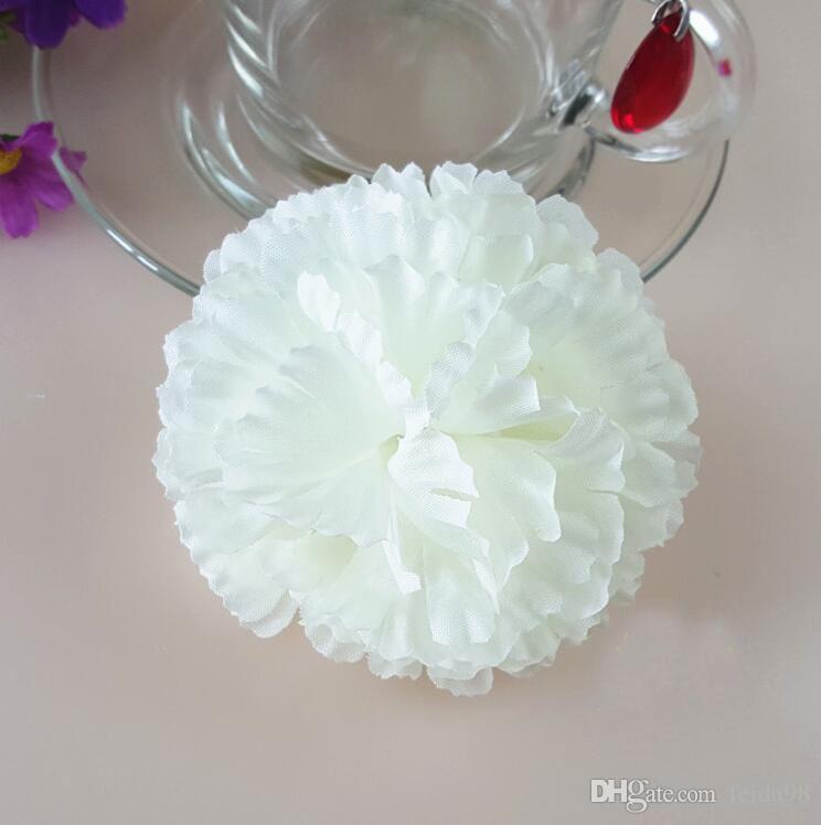 造花絹の花卸売カーネーションの花の頭の手作りDiyスタイルのフェンス