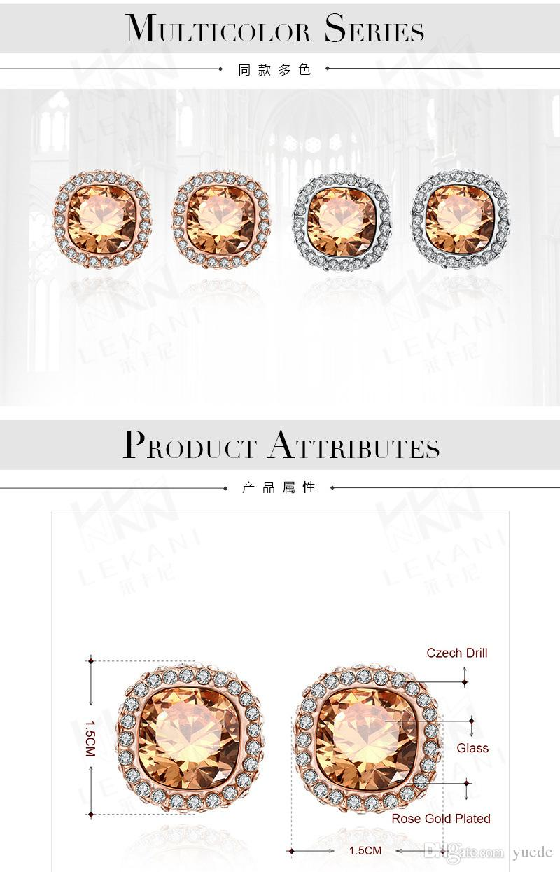wholesale 2017 NEW 925 silver earrings Europe color Crystals from Swarovski Earring With Charm for Women Gift Fine jewelry