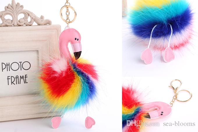 Rainbow Color Flamingo Fur Ball Pom Pom Keychain Plush Doll Pendant Cute  Keyring Synthetic Fur Gfit FBA Drop Shipping B566Q UK 2019 From Sea Blooms 9872960b7