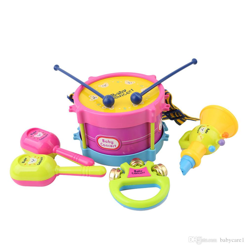 Educational Baby Kids Roll Drum Musical Instruments Band Kit Children Toy Baby Kids Gift Set