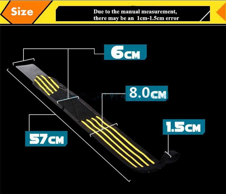 Başparmak Ile bilek Sarar Gym Spor Bileklik Powerlifting Spor Spor Bileklik Unisex Ücretsiz Boyutu için Sarar Bandaj