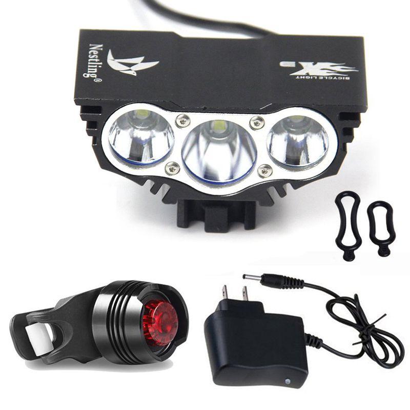 2017 hot Nestling 6600Lm Headlamp Cree X3 Bicycle Bike Led Headlight Flashlight Black
