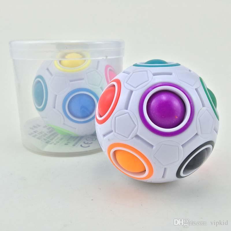 Pallone arcobaleno Magic Cube Speed Football Divertimento Creativo Puzzle sferici Giochi educativi educativi bambini Giochi bambini Regali adulti