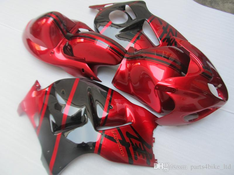 kits de carenado CALIENTE NUEVO para Hayabusa GSX1300R 1909-2007 GSX-R1300 rojo carenado ZZ491