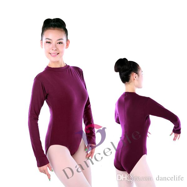 c933092dd Adult High Turtle Ballet Dance Leotards with Long Sleeve A2025 ...