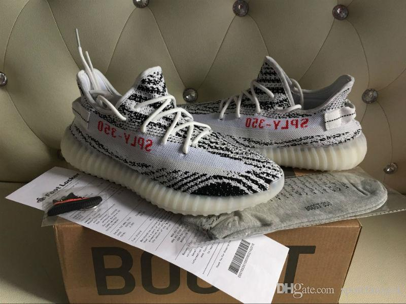 DHL CP9654 Limited 2017 V2 Zebra White Core Black Red Mix V2 Shoes 36-48  350 V2 Boost Kanye West Running Shoes Cp9654 Zebra V2 Cp 9654 V2 Online  with ...