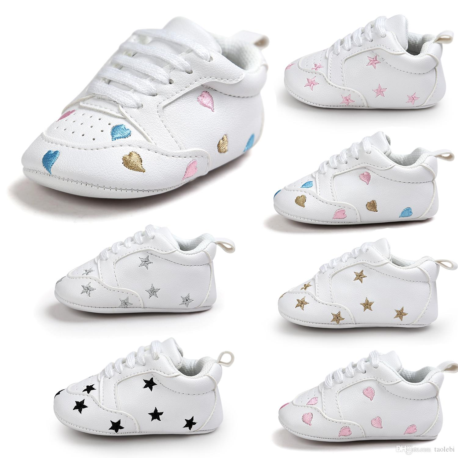 2018 2017 Pu Leather Baby Sneakers Fashion Design Baby Sport Shoes