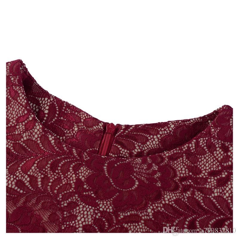 Automne Femmes Robe 2017 style chaud de sortie irrégulière usine split robe en dentelle paquet col rond robe de la hanche, plus la taille NYC204