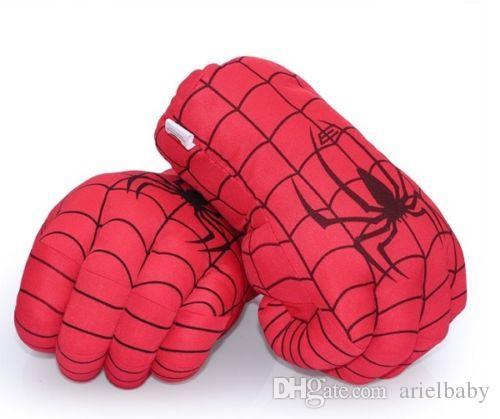 OHMETOY Spider-man Suave Peluche Cosplay Smash Hands Punching Boxing Boy Audlts regalo de cumpleaños