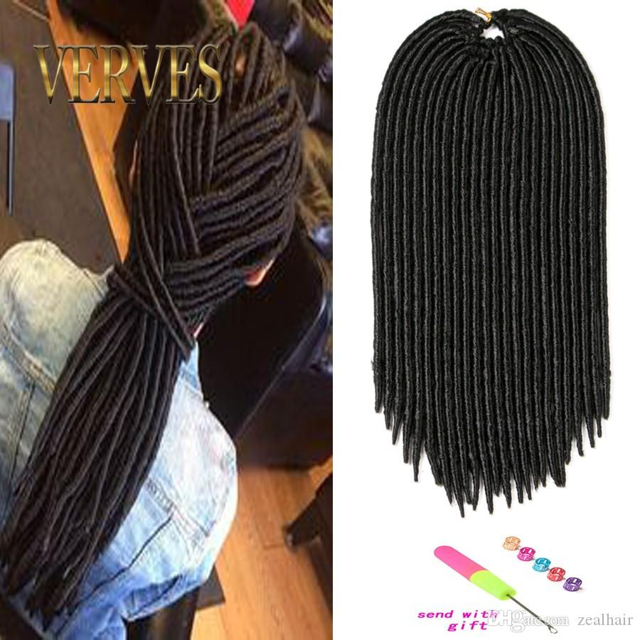 18inch faux locs crochet hair dreadlocks braids havana mambo twist crochet braid hair dread hair extensions synthetic weave
