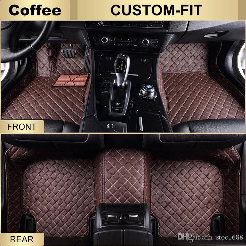 SCOT Custom Fit Leather Car Floor Mats for Acura TLX All Weather Waterproof Anti-slip 3D Front & Rear Carpets Right-Hand-Driver-Model