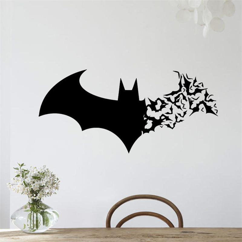 Handmade creative diy graphic vinyl wall sticker of batman for bedroom decorative wall decal mural vinilo pegatinas de pared 3112 decal decor decal decor