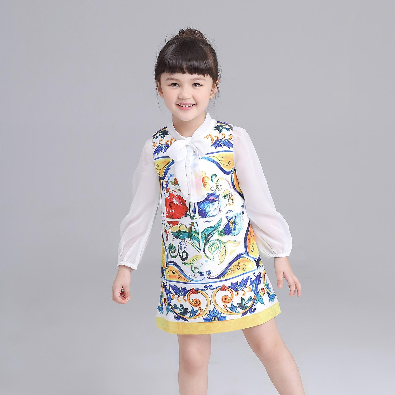 Großhandel 2017 Ins News European Stil Kinder Sommer Kleid Baby Mode ...