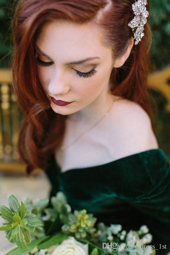 Elegant 2017 Dark Green Velvet Mermaid Evening Dresses Long Sleeves Cheap Sexy Backless Formal Prom Party Gonws Custom Made EN10916
