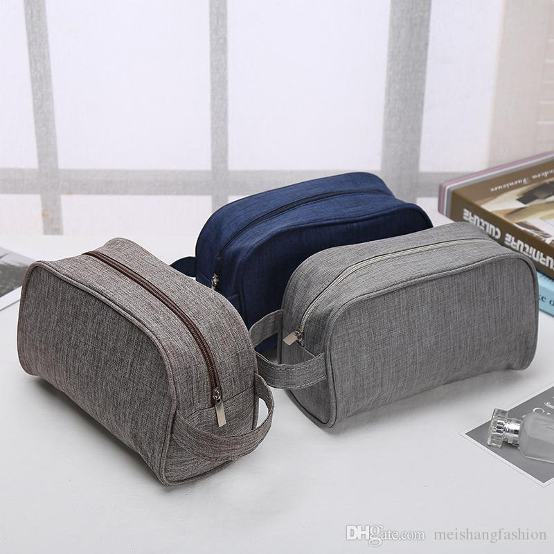 2017 new arrived fashion lady cosmetic bags casual outdoor travel storage bag men wash bag make up bag wholesale price blue grey brown