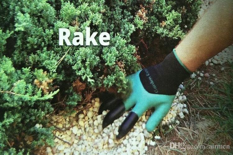 Los nuevos guantes Garden Genie con 4 garras incorporadas hacen que la jardinería sea divertida, fácil de excavar, guantes de plantación, resistentes al agua, resistentes a espinas, sin DHL
