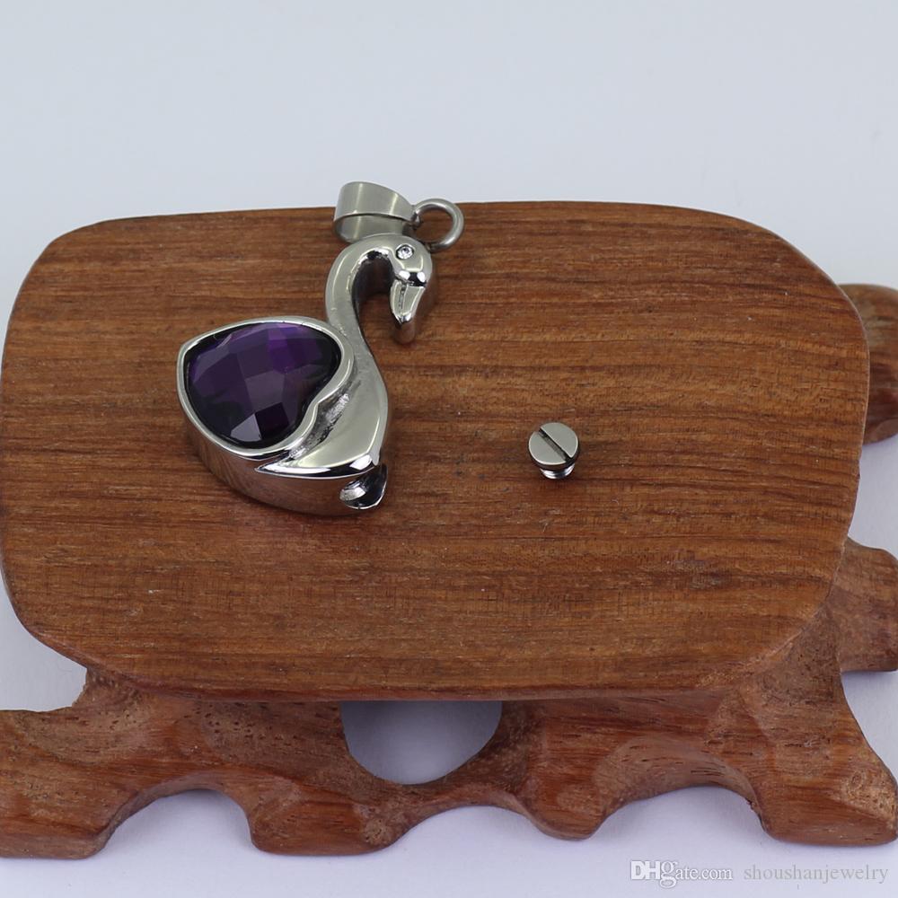 Cremation Ashes Jewellery Urn Keepsake Necklace crystal animal Pendant P715