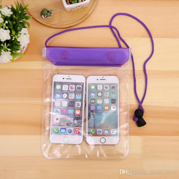Clear Waterproof Pouch Dry Case Cover For Camera Mobile phone Waterproof Bags for iphone samsung htc new arrival