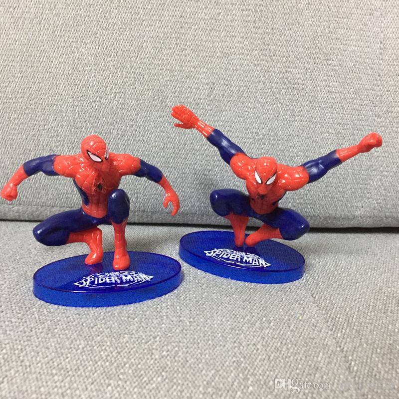 The Avengers Spider Man 7 Pz PVC Action Figure da collezione Modello Comics Heroes Spiderman i bambini Giocattoli regalo 7-11 cm