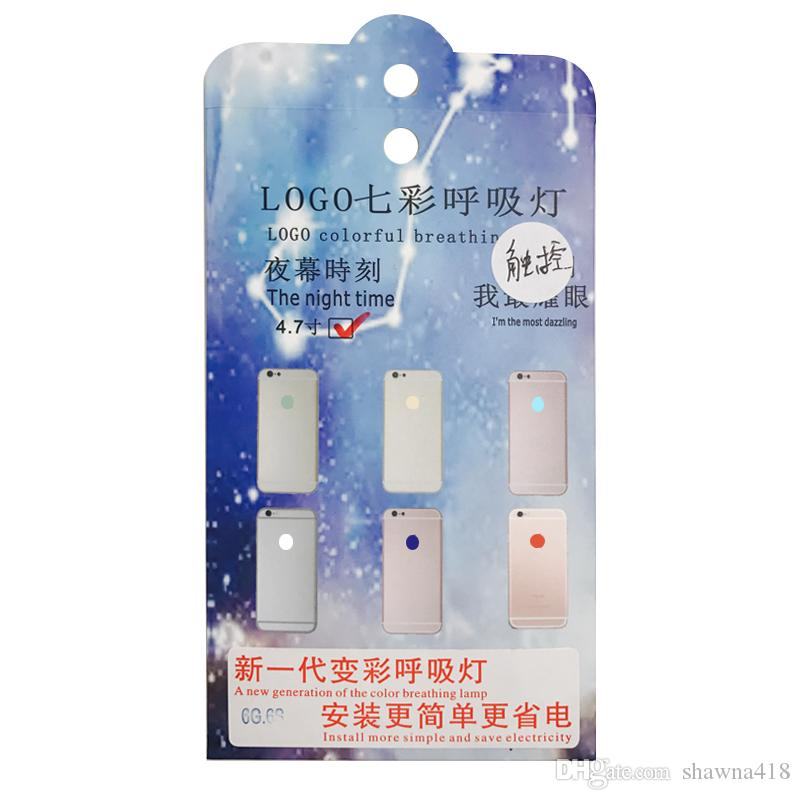 Touchable Led Light for Touch Glowing LED Logo Replacement For iPhone 6 6S Plus Fashion Light For iPhone 7 7Plus, in 1 Light Kits