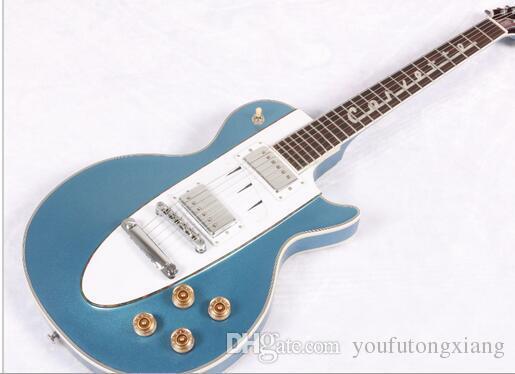 Hot Sell Metal Light Blue 1960 Corvette Rosewood Fretboard Les Electric Guitar Guitars Online Starter From