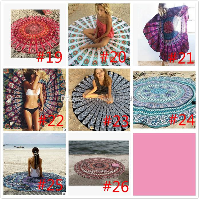 Mandala Beach Towels Yoga Mat Sunscreen shawl Beach Blanket Bohemian Styles 150CM Table Serviette Covers Free DHL