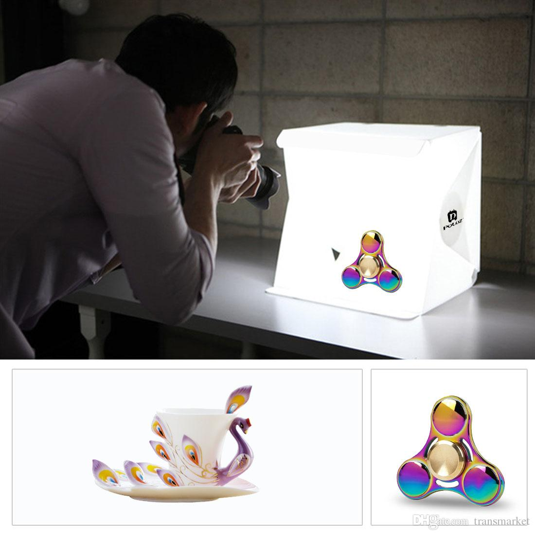 7 Renk Gönder Profesyonel Aksesuarlar Mini Fotoğraf Stüdyosu Kutusu Taşınabilir Fotoğraf Aydınlatma Backdrop Dahili Işık Fotoğraf Su Geçirmez Stüdyo
