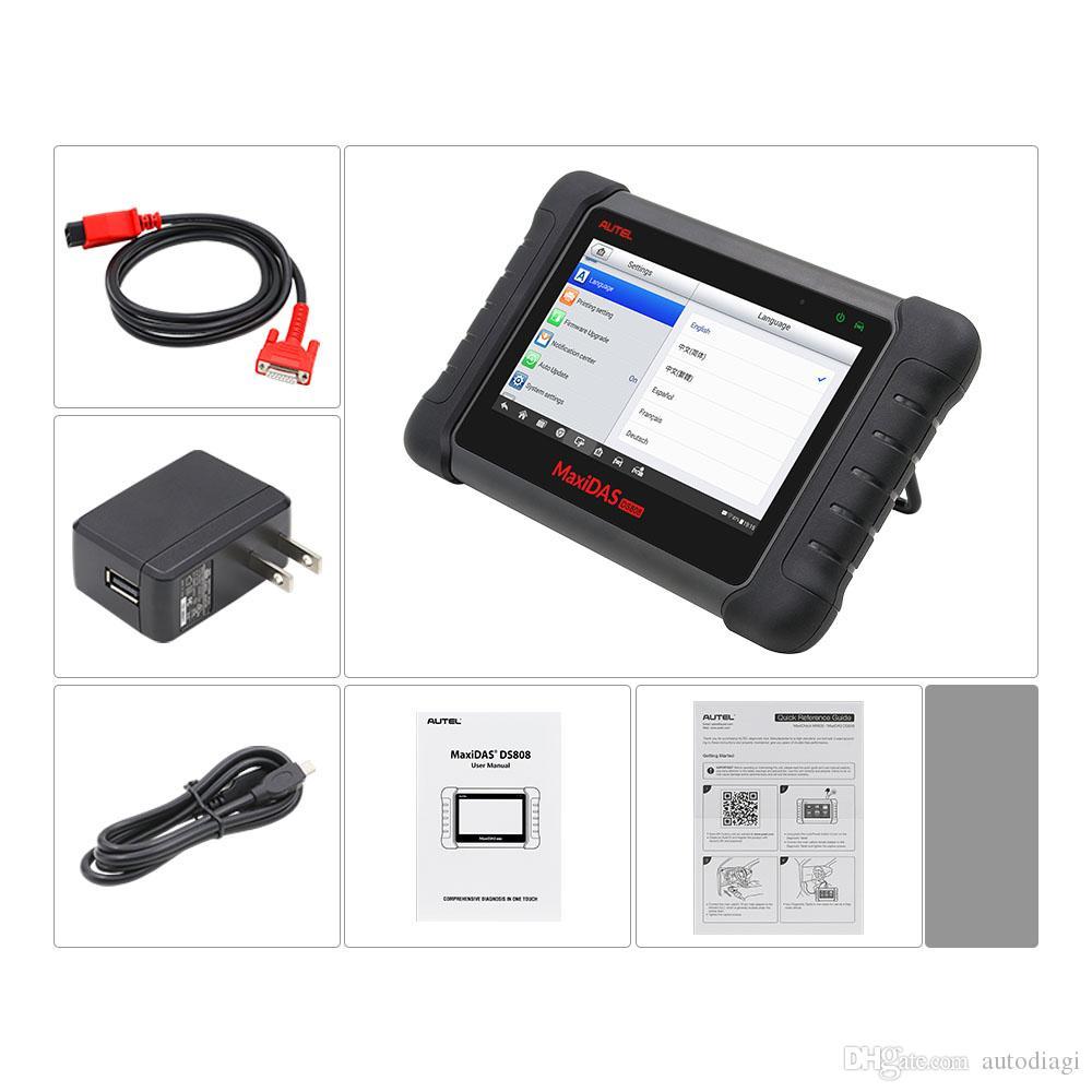 Autel Maxidas DS808 Online Update Automotive Diagnostic Tool Powerful DS 808 Scanner same as autel ms906 better than Autel DS708