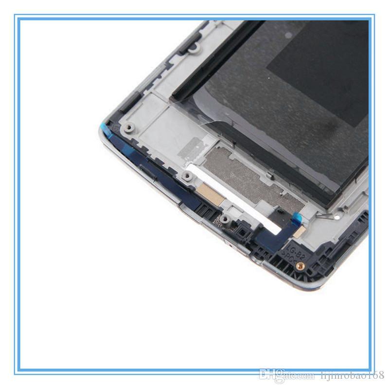 LCD الأصلي دعم الإطار لإطار LG G3 D850 D851 D855 الإطار الأمامي لوحة الواجهة الأوسط الإسكان استبدال أجزاء أبيض / أسود