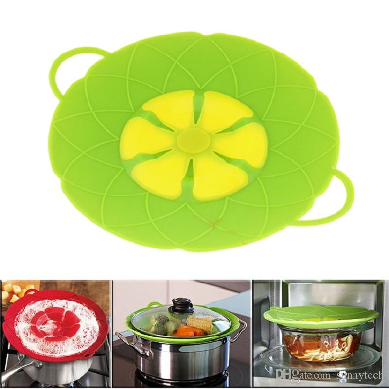 New Arrival Kitchen Gadgets Silicone Lid Spill Stopper Pot Cover 24cm Diameter Cooking Pot Lids WA2544