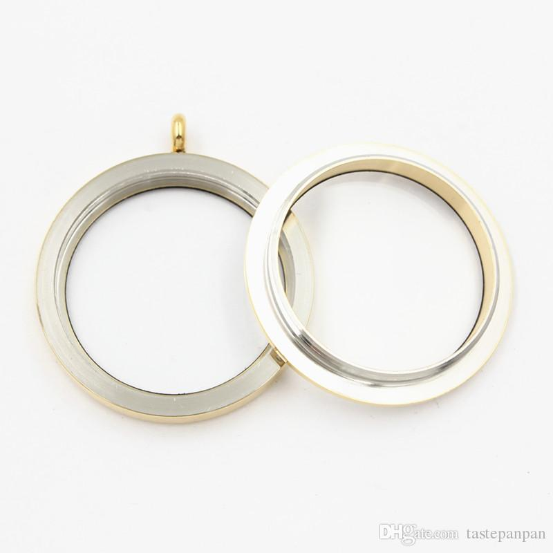 Panpan 35mm twist glas medaillon designs living medaillon ohne kristalle 316L Edelstahl runde für schwimm medaillon charms