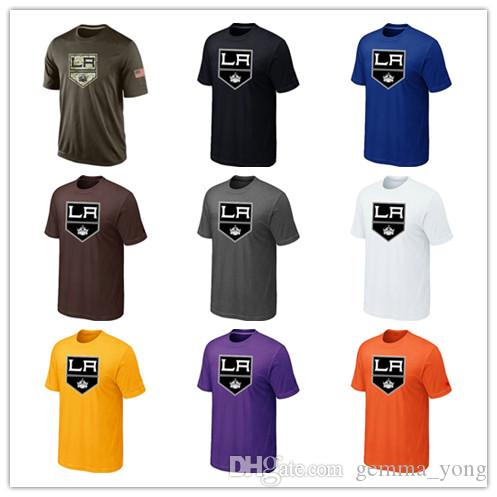 d7bb3b488 2019 Fashion Los Angeles Kings T Shirts 2018 Hockey Jerseys Cheap Tshirts  LA Kings Salute To Service Camouflage Men S Shirts White Black Good From ...